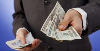 man  paying
